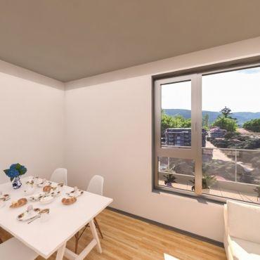 2-стаен апартамент с панорамни гледки към Витоша планина, Люлин планина и центъра на град София - Louis Eyer Residence.